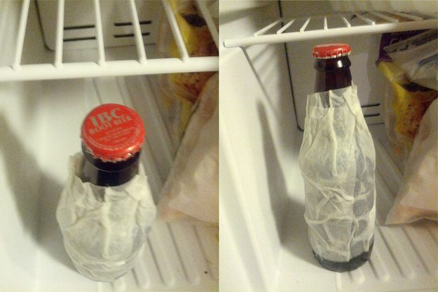how to get beer cold in 15 mins