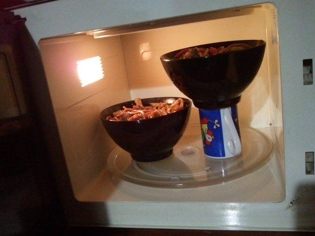 microwave hack for student in accommodation halls