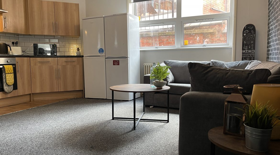 Bank Street Apartments Lincoln - Front Living Room (Student)